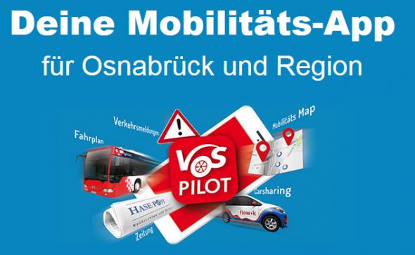 Werbegrafik Funktionen der App VOSpilot